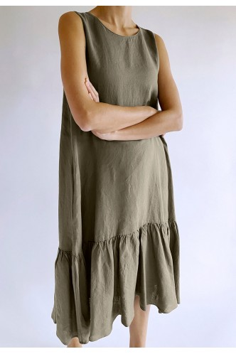 ROBERT_FRIEDMAN_MIDI_DRESS_WITH_FRILL_AT_BOTTOM_MARIONA_FASHION_CLOTHING_WOMAN_SHOP_ONLINE_700KARENL